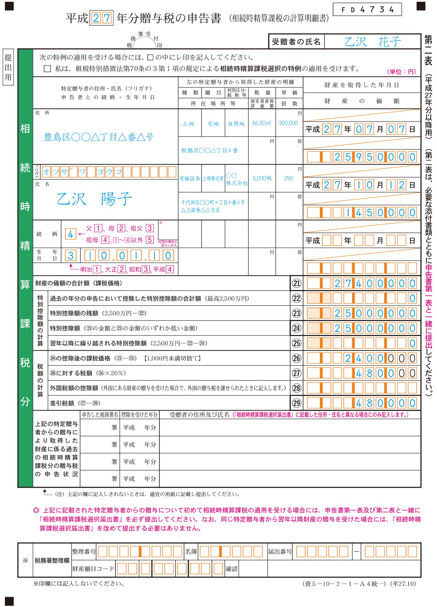 贈与税_第2表